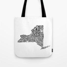 Typographic New York Tote Bag