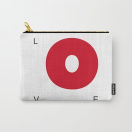 L O V E - Red Carry-All Pouch