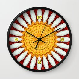 Porcelain Daisies Wall Clock