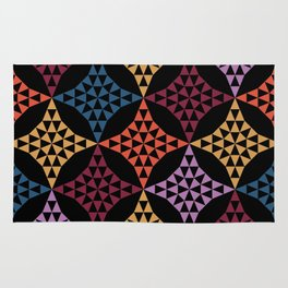 Triangle mosaic Rug
