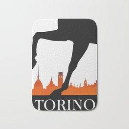 Vintage Torino or Turin Italy Travel Poster Bath Mat