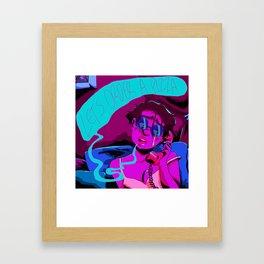 LET'S ORDER A PIZZA Framed Art Print