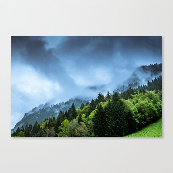 Landscape fog #society6 Canvas Print