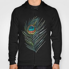 Peacock Tail Feather – Watercolor Hoody