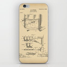 1900 Patent Bicycle carrier iPhone Skin