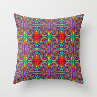 Throw Pillows featuring Kaleidoscope by Keith Bowden