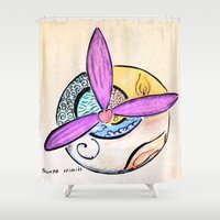 witchcraft Shower Curtains featuring Witchcraft by Thumpsy