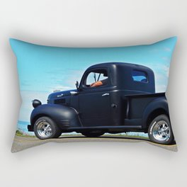 Cruising the Waterfront in the old Fargo Rectangular Pillow