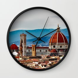 Italy Photography - Piazzale Michelangelo In Florence Wall Clock