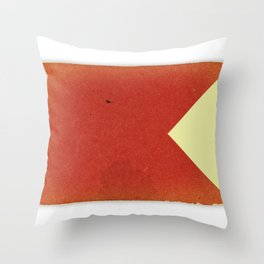 Vintage Nautical Flag Throw Pillow