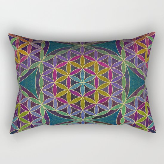 The Flower of Life (Sacred Geometry) 5 Rectangular Pillow