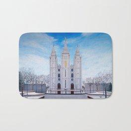 Winter Temple in Salt Lake City, Utah Bath Mat