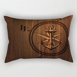 Wooden Anchor Rectangular Pillow