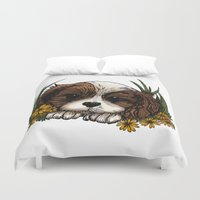 puppy Duvet Covers featuring Puppy by Adamzworld