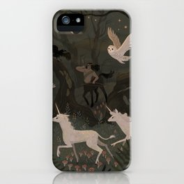 Spooky Forest with Ghosts iPhone Case