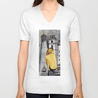 lighthouse V-neck T-shirts featuring lighthouse by The Traveling Catburys