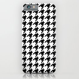Houndstooth (Black & White Pattern) iPhone Case