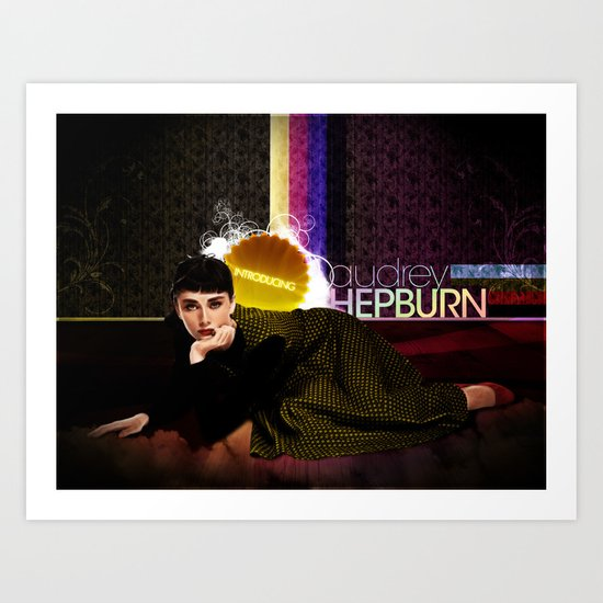 Introducing... Audrey Hepburn Art Print