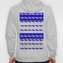 Blue and White WAVE Pattern abstract blue Hoody