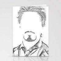 tony stark Stationery Cards featuring Tony Stark by  Steve Wade ( Swade)