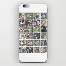Urban fragments I of‪ NewYork‬, ‎Paris‬, London‬, Berlin‬, Rome‬ and Seville iPhone Skin