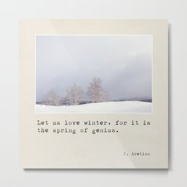 Let us love winter Metal Print