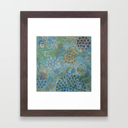 Psychedelic Sea Framed Art Print