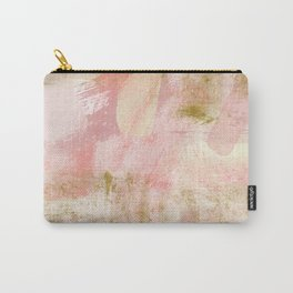 Rustic Gold and Pink Abstract Carry-All Pouch