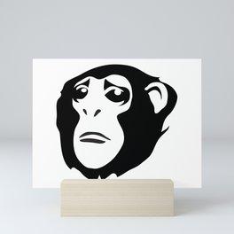 Sad Monkey Mini Art Print
