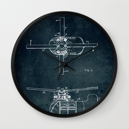 Coaxial rotor for a Helicopter Wall Clock
