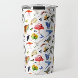 Rainbow Birds Travel Mug