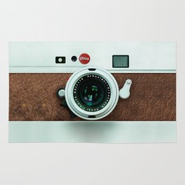 Retro brown leather Vintage camera iPhone 4 5 6 7 8 x, pillow case, mugs and tshirt Rug