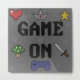 Game On Metal Print