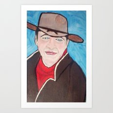 Young John Wayne Art Print