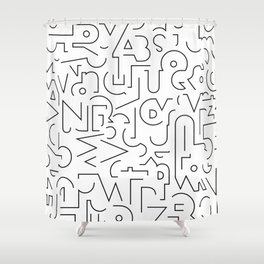 Favorite Shape Shower Curtain