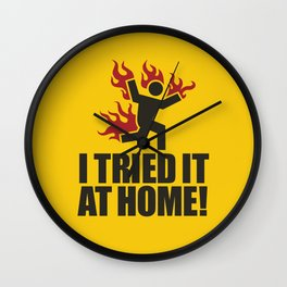 I tried it at home! Wall Clock