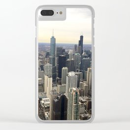 Chicago Skyline - Color Photograph Clear iPhone Case
