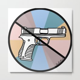 No Guns 1 Metal Print