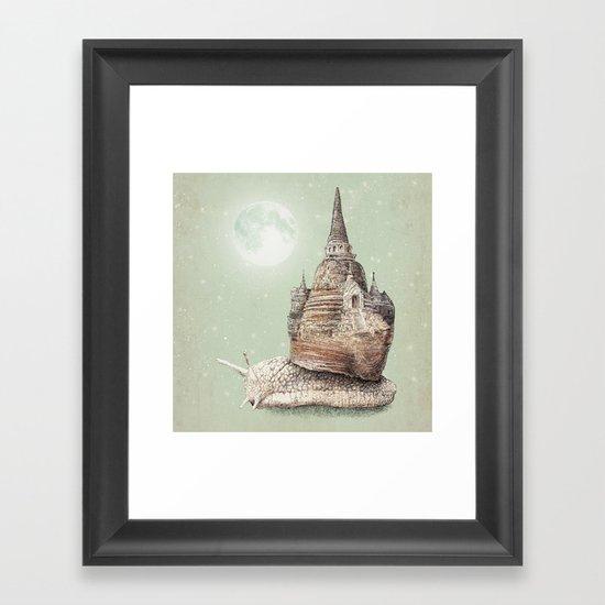 The Snail's Dream Framed Art Print