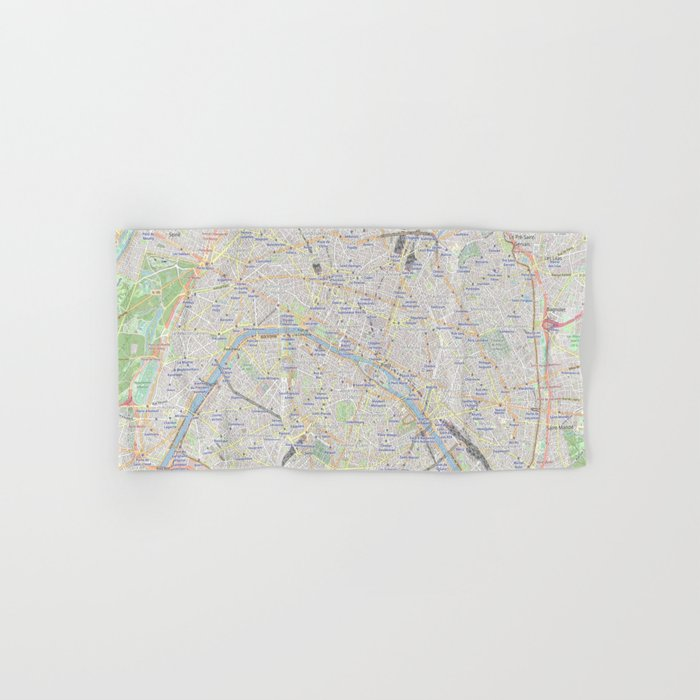 map of Paris – France, French,city of light,seine, parisien, parisian. Hand & Bath Towel