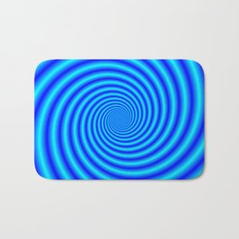 The Swirling Blues Bath Mat