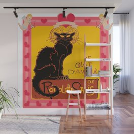 Le Chat Noir D'Amour Heart And Cherub Border Wall Mural