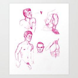 FAG DOODLE 01 Art Print