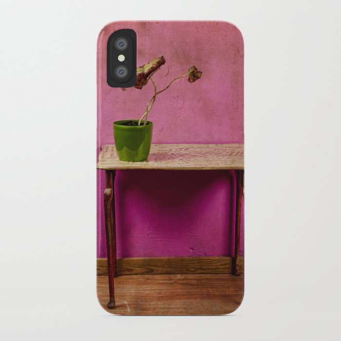 The colorful decay of plants iPhone Case