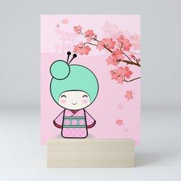 Kokeshi doll - Sakura Mini Art Print