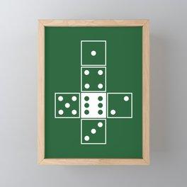 Green Unrolled D6 Framed Mini Art Print