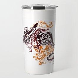 Abstract Motorcycle Travel Mug