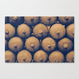 Gas bottles Canvas Print
