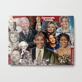 Obama Biden Bernie Kamala Hillary Nancy Michelle Metal Print