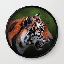 A Leader - Siberian Tiger Art Wall Clock
